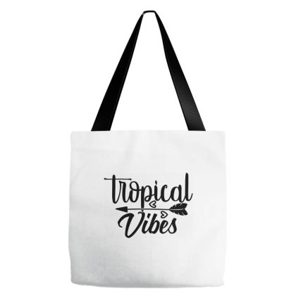 Tropical Vibes Tote Bags Designed By Palm Tees