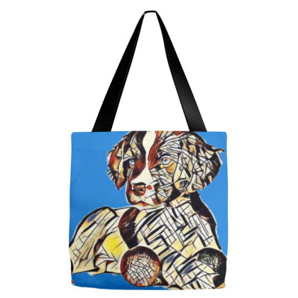 Cute Seven Week Old Puppy Wit Tote Bags Designed By Kemnabi