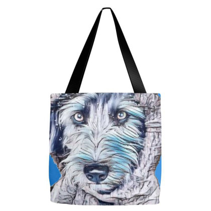 Cute Scruffy Terrier Dog Wear Tote Bags Designed By Kemnabi