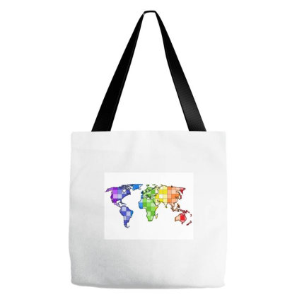 World In Rainbow Tote Bags Designed By Breeze221b