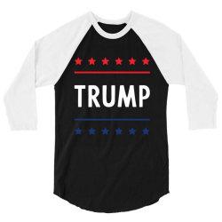 Donald Trump President 2020 - USA Flag Gift Political 3/4 Sleeve Shirt   Artistshot