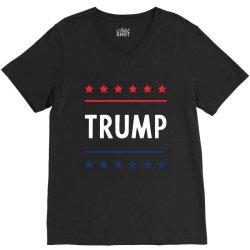 Donald Trump President 2020 - USA Flag Gift Political V-Neck Tee   Artistshot