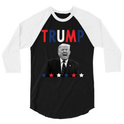 Donald Trump President 2020 - USA Flag Gift Political 3/4 Sleeve Shirt | Artistshot