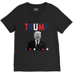 Donald Trump President 2020 - USA Flag Gift Political V-Neck Tee | Artistshot