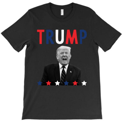Donald Trump President 2020 - Usa Flag Gift Political T-shirt Designed By Diogo Calheiros