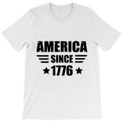 American Flag 4th July T-shirt Designed By Dropshop