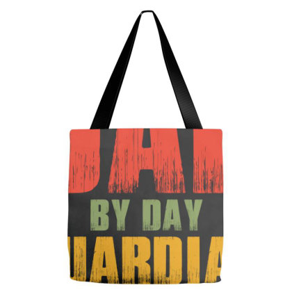 Dad By Day Guardian By Night Tote Bags Designed By Sengul