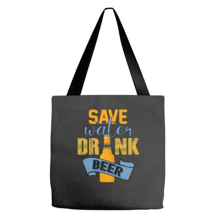 Save Water Drink Beer Tote Bags Designed By Sengul