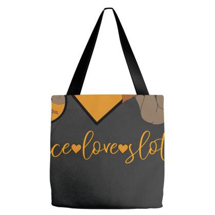 Peace Love Sloths Tote Bags Designed By Sengul