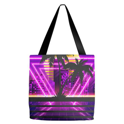 Vaporwave Palm Tote Bags Designed By Sengul