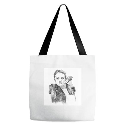 Selena Gomez - Celebrity (pencil Art Fashion) Tote Bags Designed By Word Power
