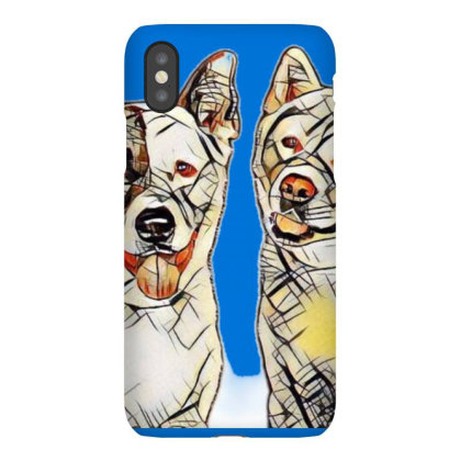 Portrait Of Akita Dogs Over B Iphonex Case Designed By Kemnabi