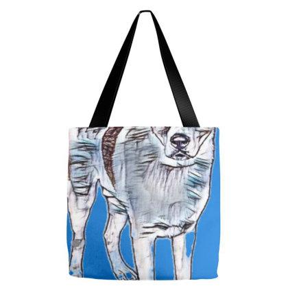 Full Length Portrait Of White Tote Bags Designed By Kemnabi