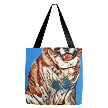 Portrait Of Fluffy Akita Sitt Tote Bags Designed By Kemnabi