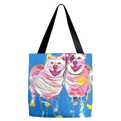 Portrait Of Dogs Standing Tog Tote Bags Designed By Kemnabi