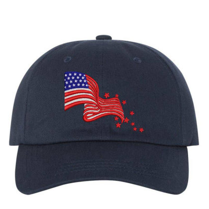 America Flag Embroidered Hat Embroidered Dad Cap Designed By Madhatter