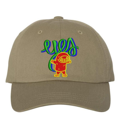 Yes Or Eyes Embroidered Hat Embroidered Dad Cap Designed By Madhatter