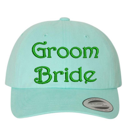 Groom Bride Embroidered Hat Embroidered Dad Cap Designed By Madhatter
