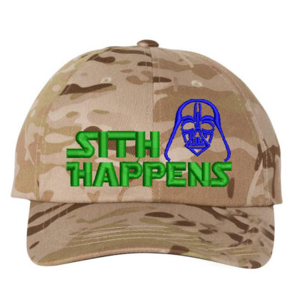 Sith Happens Embroidered Hat Embroidered Dad Cap Designed By Madhatter