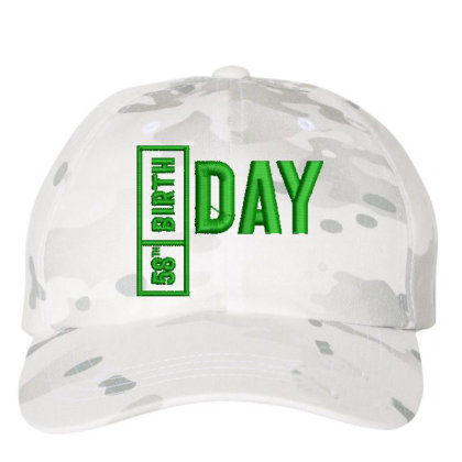 58 Birthday Embroidered Hat Embroidered Dad Cap Designed By Madhatter