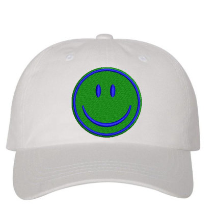 Smiley Face Embroidered Hat Embroidered Dad Cap Designed By Madhatter