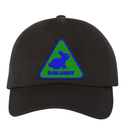 Run Away Embroidered Hat Embroidered Dad Cap Designed By Madhatter