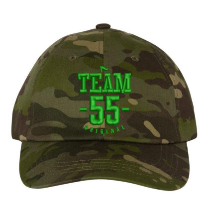 Team 55 Embroidered Hat Embroidered Dad Cap Designed By Madhatter