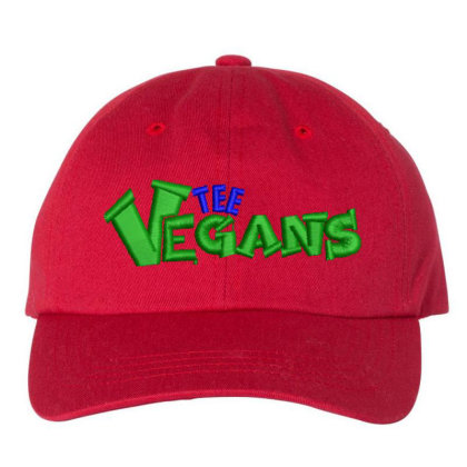 The Vegans Embroidered Hat Embroidered Dad Cap Designed By Madhatter