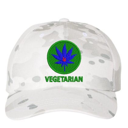 Vegetarian Embroidered Hat Embroidered Dad Cap Designed By Madhatter