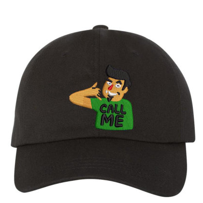 Call Me Embroidered Hat Embroidered Dad Cap Designed By Madhatter