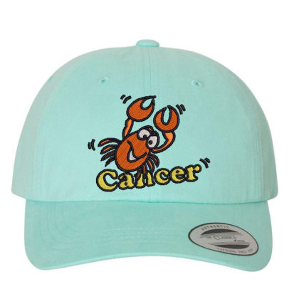 Cancer Zodiac Cat Embroidered Dad Cap Designed By Madhatter
