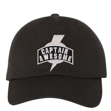 Captian Awesome Embroidered Hat Embroidered Dad Cap Designed By Madhatter