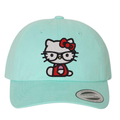 Cat Embroidered Hat Embroidered Dad Cap Designed By Madhatter