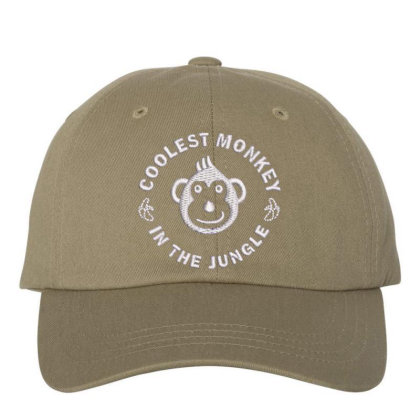Coolest Monkey Embroidered Hat Embroidered Dad Cap Designed By Madhatter