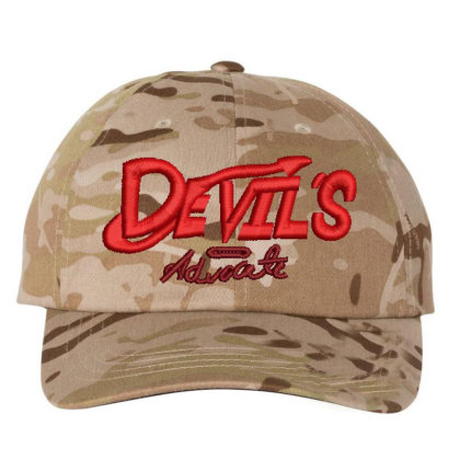 Devil's Advocate Embroidered Hat Embroidered Dad Cap Designed By Madhatter