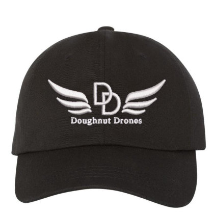 Doughnut Drones Embroidered Hat Embroidered Dad Cap Designed By Madhatter