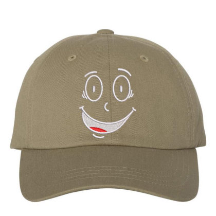 Funny Face Embroidered Hat Embroidered Dad Cap Designed By Madhatter