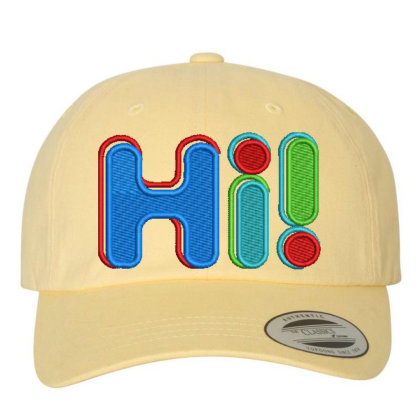 Hi...!!!!!! Embroidered Hat Embroidered Dad Cap Designed By Madhatter