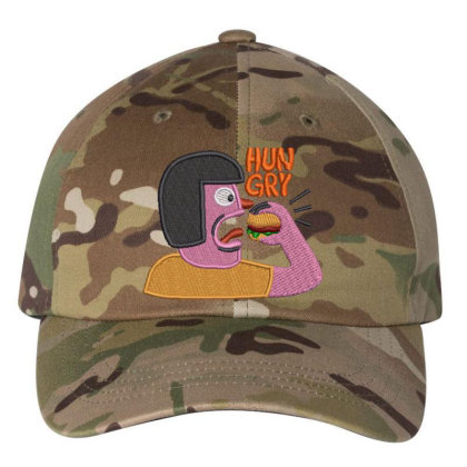 Hungry Embroidered Hat Embroidered Dad Cap Designed By Madhatter