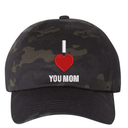 I Love You Mom Embroidered Hat Embroidered Dad Cap Designed By Madhatter