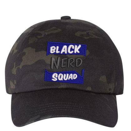 Black Nerd Squad Embroidered Hat Embroidered Dad Cap Designed By Madhatter