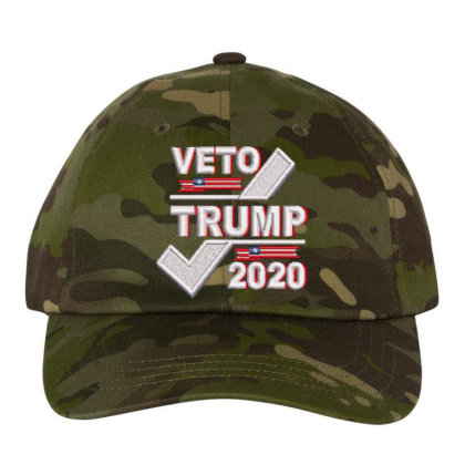 Veto Trump 2020 Embroidered Hat Embroidered Dad Cap Designed By Madhatter