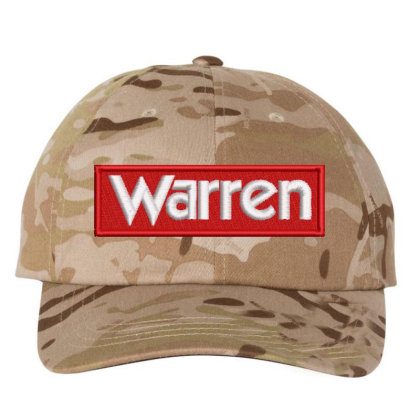 Warren Embroidered Hat Embroidered Dad Cap Designed By Madhatter