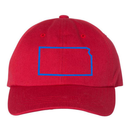 Kansas Embroidered Dad Cap Designed By Madhatter