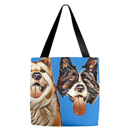 Akita Dogs Sticking Out Tongu Tote Bags Designed By Kemnabi