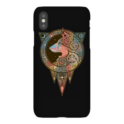 Norse Ulv Wolf Art Slim Fit T Shirt Iphonex Case Designed By Blackstars