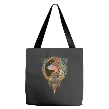 Norse Ulv Wolf Art Slim Fit T Shirt Tote Bags Designed By Blackstars