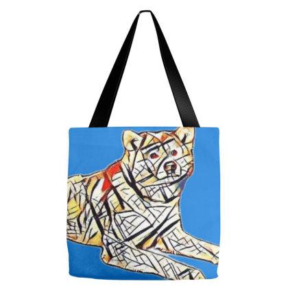 Full Length Of Akita Dog Rest Tote Bags Designed By Kemnabi