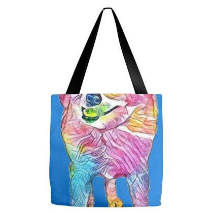 Full Length Of Akita Standing Tote Bags Designed By Kemnabi