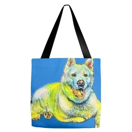 Full Length Of Akita Looking Tote Bags Designed By Kemnabi